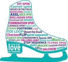 For the love of skating💕 Ice Skating Quotes, Figure Skating Quotes, New Skate, Skate Party, Ice Skaters, Skating Dresses, Learning To Be, Roller Skating, Word Art