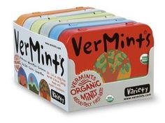 VerMints Organic Variety 6 Pack - 1 Tin of Each Flavor - http://www.yourgourmetgifts.com/vermints-organic-variety-6-pack-1-tin-of-each-flavor/