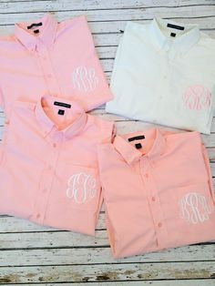 Monogrammed Oversized Mens Shirts for Bridal Parties and College Co-eds via Etsy