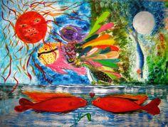 Una idea, mucho arte Óleo sobre cartulina, 65 x 50 cm. Autora  Mary Carmen Murillo