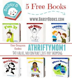 I love books! FREE baby books at www.babsybooks.com with coupon code ATHRIFTYMOM1 it will take 40 dollars off, 5 free baby books, freebies for new moms, freebies for babies