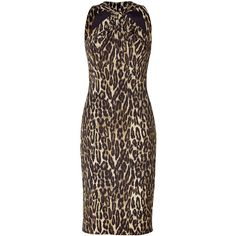MICHAEL KORS Leopard Printed Twisted Halter Dress ($875) ❤ liked on Polyvore