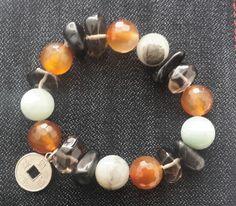 Natural stone bracelet, pulsera de piedras naturales