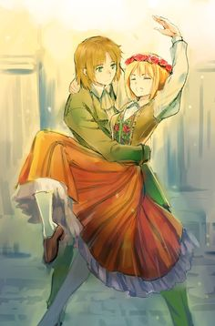 Hetalia - Lithania and Nyotalia Poland <<< I've been looking for this ship like this its my OTP