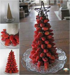 Arvore de natal de morangos