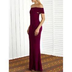 $20.36 Off The Shoulder Sheath Mermaid Maxi Dress