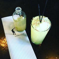 "Celery meets Cachaça, the new ""Loose Maraca"" is a show-stoppa! Novo Fogo Barrel-Aged Cachaça, Celery Juice, Green Chartreuse, Velvet Falernum, Absinthe & Peach Bitters. #novofogo #imbibegram"