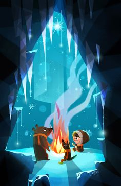 Icy Campfire Print - Joey Chou on Big Cartel