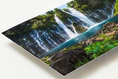 Free shipping on all US orders!  Burney Falls is a large and breathtaking waterfall located in Northern California at McArthur Burney Falls State Park. Title: Burney Falls Delight  ~ This limited edition photo will be infused directly into the surface of an aluminum sheet with high quality dyes. ~ Because the image is infused into the surface and not on it, your images will take on an almost magical luminescence. ~ Details and color shine beautifully while whites become more metallic…