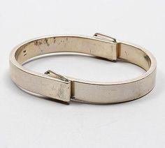 HANS APPENZELLER 1949 - Silver bracelet to pull open design execution 1975 the Netherlands
