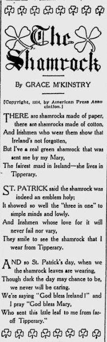 The Shamrock The Bayonne Herald - Feb 28, 1914 Irish Quotes, Irish Sayings, Irish Proverbs, Irish Culture, Irish American, Irish Pride, Irish Girls, Irish Recipes, Irish Eyes Are Smiling