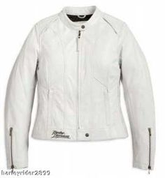 White Leather Harley Davidson Jacket - Nice, but not quite as nice as the one Mark bought me with the pink accents.