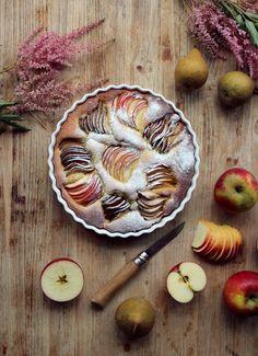 Gâteau au yaourt à l'amande – Aux pommes et aux poires – Söta Salt