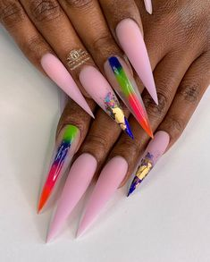 Aycrlic Nails, Diva Nails, Stiletto Nails, Swag Nails, Hair And Nails, Nail Nail, Vacation Nails, Pointed Nails, Super Cute Nails