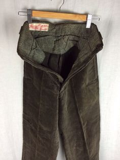 Vtg 30s French Chore Work Wear Trousers Cord Corduroy Pants Hobo ...
