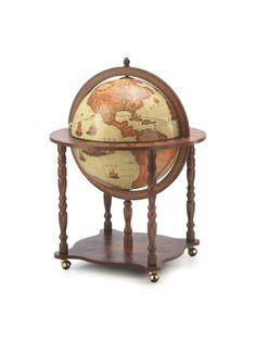 Globe Drinks Cabinet Grande Brown