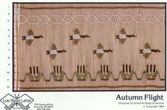 Geese in Flight.  Simple yet elegant smocking design plate by Lou Anne Lamar.  Available at Chadwick Heirlooms for $5!