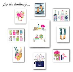 Gallery Wall Design Idea Featuring Evelyn Henson Art Prints