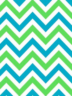 Blue and green chevron for closet?