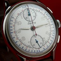 """Vintage """" BREITLING """" CHRONOGRAPH, Manual Wind from 1946 BEAUTIFUL !!!"""