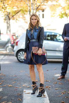 Louis Vuitton dress and boots   - HarpersBAZAAR.com