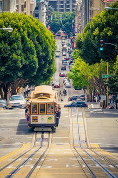 Ride the cable car in San Francisco, California. Would love to explore this city more!
