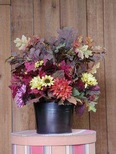 Large Fall Leaves & Florals Arrangement