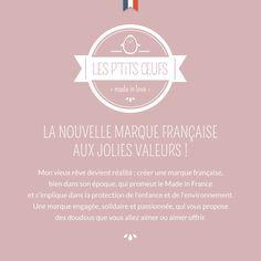 Les P'tits Œufs, la nouvelle marque française aux jolies valeurs ! #madeinfrance #madeinlove #faitmain #artisanat #savoirfairefrancais #doudou #peluche #jouet #cadeau #oeuf #chambrebebe #chambreenfant #berceau #maternité #nouveaune #nourrisson #bébé #enfant #petitgarcon #petitefille #poussin #pingouin #hibou #flamantrose #tropmignon #tropmimi