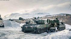 Exercises Cold Response 2014 – Norwegian M109 artillery