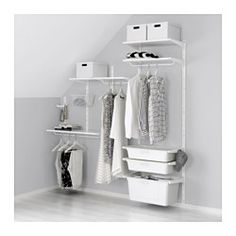 IKEA - ALGOT, Wall upright/shelves/box, The parts in the ALGOT series can be combined in many different ways and easily adapted to your needs and space.If your needs change, you can quickly rebuild your ALGOT storage solution, since shelves, rods and baskets are easy to click in and out.Can also be used in bathrooms and other damp indoor areas.