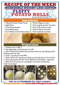 Delicious Fluffy potato rolls made with the Ideal Protein Potato Puree. All phases approved!