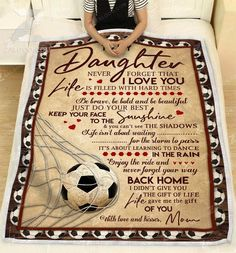 Mom Panda - Remember To Be Awesome Sofa Fleece Blanket 50-80 Daughter