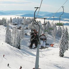 Winter sports near Ljubljana. You can ski about hour away from #Ljubljana.