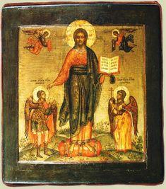 Спас Смоленский, с Архангелом Михаилом и Ангелом-хранителем века острома конец 17 века
