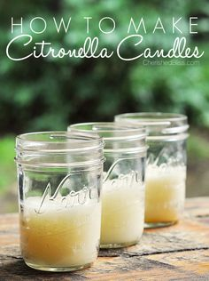 Tired of mosquitoes? Learn how to make citronella candles to enjoy your summer's outside and keep them away!
