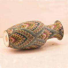 Vintage Chinese Ceramic Vase 1940s Textured Pattern in by FoosGold, $26.80