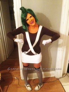 Very Cool Oompa Loompa Girl Costume... This website is the Pinterest of costumes
