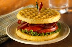 Cheddar cornmeal waffle BLT | Recipes I Want to Try | Pinterest ...