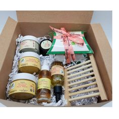 Spa gift box - self care gift box for women - thank you gift set - sympathy gift boxs -encouragement - happy birthday gift box- winter gift Green Tea Soap, Gift Boxes For Women, Honey Soap, Happy Birthday Gifts, Thank You Gifts, Gifts For Mom, Spa Gifts, Sympathy Gifts, Handmade Soaps