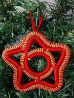 Red Star Ornament - Pine needle Made by women's basket cooperative: http://vimeo.com/20223520