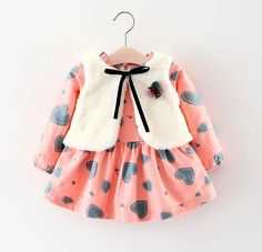 New Autumn Style Girls Clothing Dresses Clothes Sets Cute Bebe Newborn Baby Girl Christmas Outfits Infant Clothes Baby Girl Christmas, Baby Girl Winter, Kids Coats Girls, Kids Girls, Baby Birthday Dress, Baby Girl Newborn, Baby Girls, Baby Girl Princess, Girls Dresses