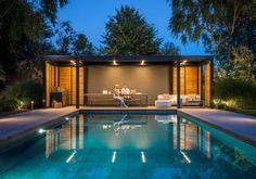 Inspiring photos for your pergola Diy Pergola, Pergola Canopy, Canopy Outdoor, Pergola With Roof, Wooden Pergola, Patio Roof, Outdoor Rooms, Outdoor Living, Pergola Ideas