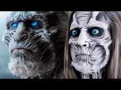 AMAZING! Game of Thrones White Walker face paint