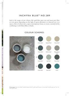 Inspiration from Farrow & Ball: Inchyra Blue No. Farrow Ball, Farrow And Ball Paint, Blue Colour Palette, Blue Color Schemes, Colour Palettes, Room Colors, Wall Colors, Paint Colours, Colours 2017