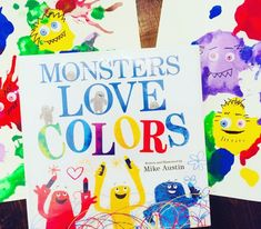 Monster Blow Painting based on the book Monsters Love Color