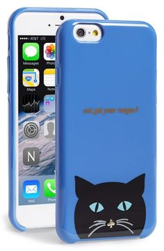 Free shipping and returns on kate spade new york 'cat' iPhone 6 case at Nordstrom.com. Cat got your tongue? A whiskered feline with a signature nose peers out from the bottom of this adorable hard-shell iPhone case.