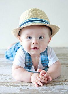 Baby boy tummy photo