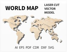 Gm desert proving grounds mesa az lasered maps pinterest world map laser cut file world map vector digital download svg png dxf gumiabroncs Choice Image
