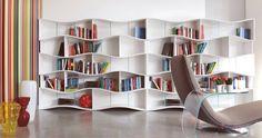 kreative Bücherregale  modern modular  faszinierend  leicht weiß bunt
