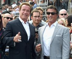 Sylvester Stallone Arnold Schwarzenegger Photos - Actors Arnold Schwarzenegger (L) and Sylvester Stallone attend the LA Premiere of Paramount Pictures' 'Terminator Genisys' at the Dolby Theatre on June 28, 2015 in Hollywood, California. - Guests Attend the LA Premiere of Paramount Pictures' 'Terminator Genisys'